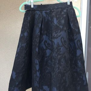 H&M blue black a line skirt